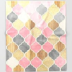 pink and gold patterned throw blanket - Google Search