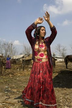 Gypsylife woman of the coppersmiths dancing in by WorldPhotoLife.