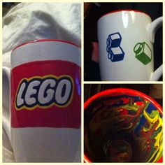 Paint your own pottery! Lego mug