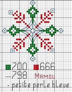 Snowflake cross-stitch