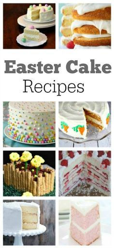 10 Beautiful Easter Cake recipes: Lemon Cheesecake Cake, Coconut Layer Cake, Polka Dot Cake, Strawberry Party Cake, Pink Velvet Cake and more- all perfect Easter dessert recipes.