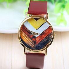 vintage fleur des femmes en or rose cadran PU bande de montre-bracelet à quartz analogique (couleurs assorties) – EUR € 6.71