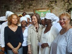 Queen Sophia of Spain visits Haiti