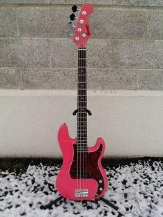 New Custom GAMMA Alpha (Precision) Bass Guitar, Mambo Pink, Spectacular