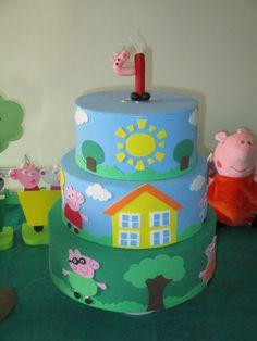 Half Birthday, Pig Birthday, Familia Peppa Pig, George Pig, Bolo Fake, Gabriel, Mlb, Link, Cake