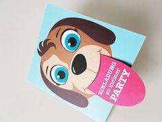 Kinder-Einladungskarte mit Hund und Zunge zum herausziehen  #geburtstagseinladung #hund #diy # doityourself #druckvorlage Crafts For Kids, Diy, Condo, Invitation Cards, Projects, Crafts For Children, Kids Arts And Crafts, Bricolage, Do It Yourself