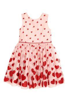 Glitterende tulen jurk   H&M