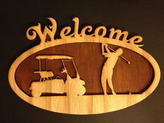 Golf Welcome Sign by BBLaserDesign on Etsy