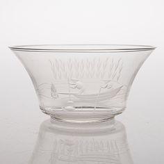 GÖRAN HONGELL, MALJA, lasia, signeerattu GH-Karhula, 2456-H320. - Bukowskis Bukowski, Glass Design, Punch Bowls, Finland, Beautiful