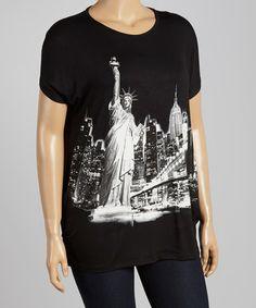 Look at this #zulilyfind! Black & White Statue of Liberty Tee - Plus #zulilyfinds