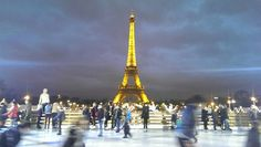Eiffel tower and ice skating #paris #xmas #france #eiffeltower