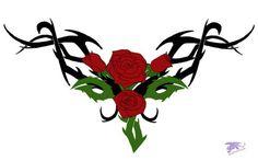 Tribal Rose Tattoo - 50  Meaningful Rose Tattoo Designs  <3 <3