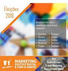 Tenha um campanha bonita, limpa e eficaz. Desenvolvemos sua comunicação visual com sinergia em todas as ações.    #MarketingPolitico #Eleiçoes2016    (37) 3016-3133  atendimento@f1mktdigital.com.br  Rua Pernambuco, 2301, Ipiranga - Divinópolis/MG