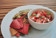 Spicy Watermelon Salsa - a little sweet and a little spicy! #vegan #plantbased #plantloving