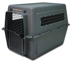 Petmate 21647 Pet Porter Fashion Dog Crate, Giant, Dark Gray - - Product Description: The Giant Size Petmate Pet Porter combines value with preferred features, such as heavy duty plastic sh Extra Large Dog Kennel, Large Dog Crate, Large Dogs, Airline Pet Carrier, Dog Carrier, Discount Pet Supplies, Dog Supplies, Flying With Pets, Pet Kennels