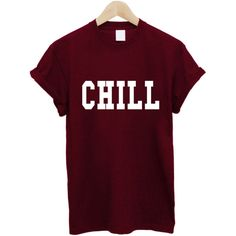 Chill T Shirt ($14) ❤ liked on Polyvore featuring tops, t-shirts, purple t shirt, purple top and purple tee