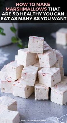 How to Make Marshmallows That Are So Healthy You Can Eat as Many as You Want,Healthy, Many of these healthy H E A L T H Y . How to Make Marshmallows That Are So Healthy You Can Eat as Many as You Want Source by How To Make Marshmallows, Recipes With Marshmallows, Homemade Marshmallows, Gelatin Free Marshmallows, Candy Recipes, Gourmet Recipes, Cooking Recipes, Dinner Recipes, Gluten Free Recipes