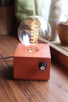 Handmade Copper colour design  table lamp with Edison bulb and dimmer