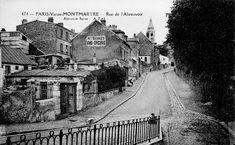 Rue de l'Abreuvoir Paris 18ème Paris 1900, Old Paris, Vintage Paris, Paris France, Montmartre Paris, Belle Epoque, Paris Black And White, I Love Paris, Tourist Places