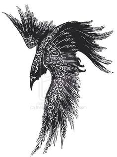 Read Complete Celtic Raven Tattoo Design