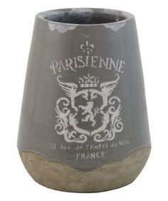 Loving this Taupe & Gray 'Parisienne' Ceramic Vase on #zulily! #zulilyfinds