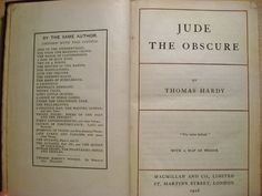 Jude the Obscure by Thomas Hardy 1928 by EnglishVintageBooks