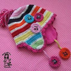 Normally, I don't showcase Etsy or patterns for purchase on my boards since I mostly promote free patterns and artistry... but I seem to always make an exception for Vendulka. Mad about the buttons hat is another wonderfully created Maderska design! She puts so much love and creativity into all of her patterns! ☀CQ #crochet #crafts #DIY