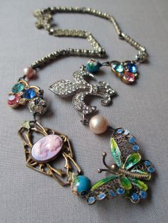 GIVERNY vintage assemblage necklace by TheFrenchCircus, $135.00