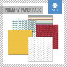 The Primary Paper Pack includes 12 sheets of double-sided papers; 6 unique designs featuring tone-on-tone on one side and designer on the other side. #CreativeMemories http://www.creativememories.com/creative-memories/decorative/paper-packs.html