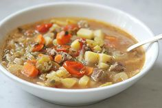 Beef, okra, potato and carrot soup (10/27/2013)