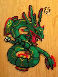 N# ??? Fake Mega Rayquaza (Perler Beads) by Cimenord on DeviantArt