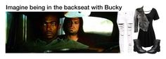 """""""Imagine being in the backseat with Bucky"""" by alyssaclair-winchester ❤ liked on Polyvore featuring art"""