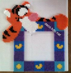 Tigger photo frame hama perler beads by deco.kdo.nat