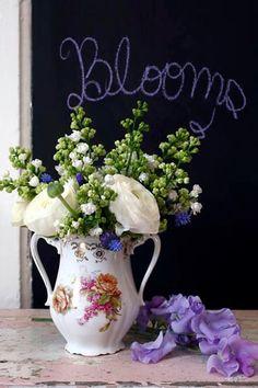J'adore les fleurs ...