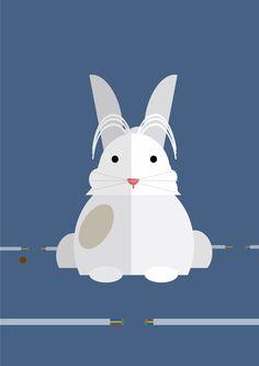 Flat Design Rabbit!