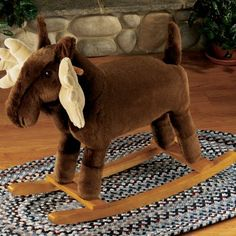 If I EVER have a kid...no rocking horse for him. Only a rocking moose will do in my household