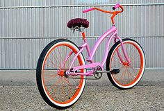 Low Chopper Fixed Bike Pink Red