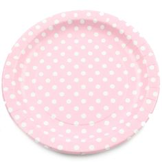 Pink Polka Dot Party Plate