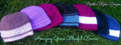 Amazing Grace Blissful Beanie Click Here...If you love this pattern you can save it to your favorites and queue on Raverly To Celebrate our Amazing Grace Crochet Charity Drive... Here is my 9th Ama...