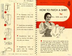 How to mend & darn clothing World War II-style.
