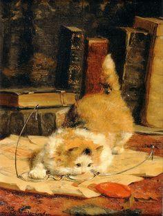 Charles Jr. Van Den Eycken (1859-1923) - Chat aux lunettes, 1918