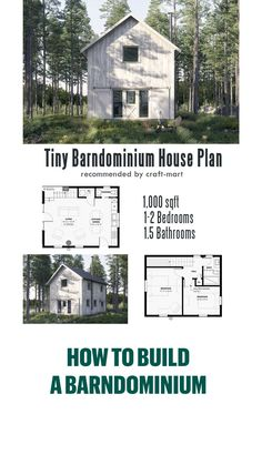 Tiny Houses Plans With Loft, Small House Floor Plans, Cabin Floor Plans, Barn House Plans, Cottage Floor Plans, Building A Container Home, Container House Design, Small House Design, Container Homes