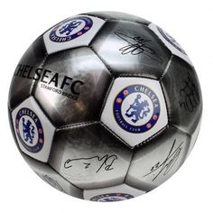 Chelsea FC - Silver Size 5 Ball With Team Signatures