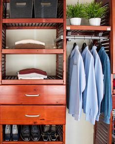 John Louis Home Closet In A Box In Rich Mahogany. Deep Deluxe