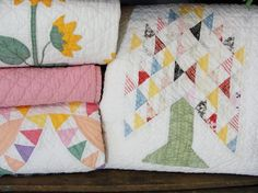 Beautiful quilts for spring! Vintageblessings