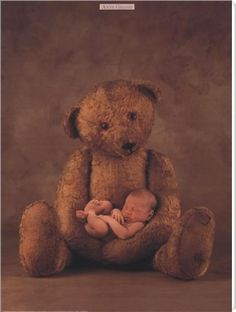 Bear with baby - so cute!