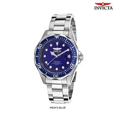 Invicta Men's or Women's Pro Diver Date Watch with Stainless Steel Strap - Assorted Styles