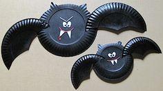 October, Paper Plate Bat