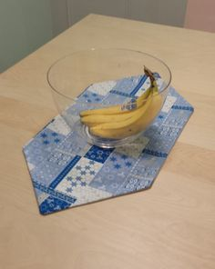 Fabric Hanukkah Table Centerpiece $7.00 on Etsy. Bananas not included :)