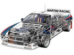 Lancia 037 Rally - cutaway view